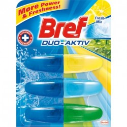 Bref Duo Aktiv Fresh-Mix toalett frissítő 3 x 50 ml